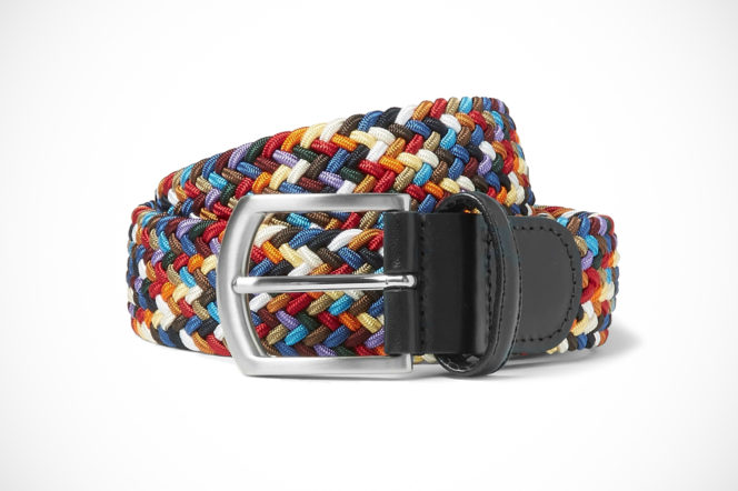 Anderson's woven elasticated belt multi-colour