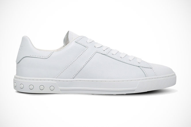 Tod's leather tennis trainers in white