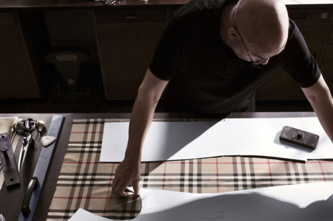 Making of Burberry's trench, photographed by Izzy Parker