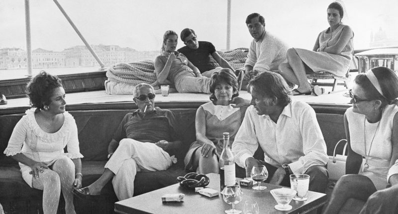 on board Christina O Onassis Super Yacht in 1950s 1960s