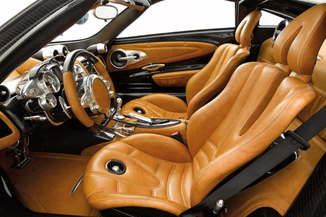 Although It Is A Lap Time Shattering Supercar The Huayra S Interior Every Bit As Luxurious Rest Dial Surrounds Are Crafted From Single