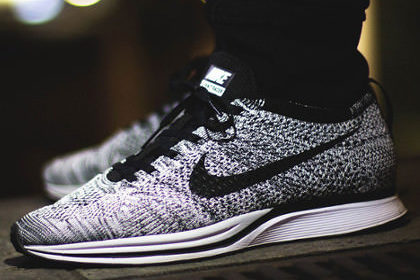 Impossibly light, Flyknit shoes are made by weaving polyester yarn to  replicate the look and feel of a sock – delivering the most natural running  experience ...