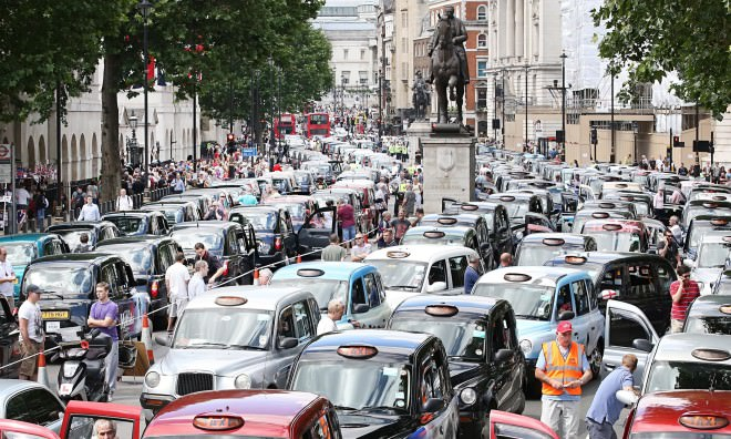 London taxi protest