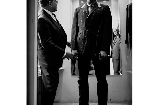 Muhammad Ali's first bespoke suit fitting