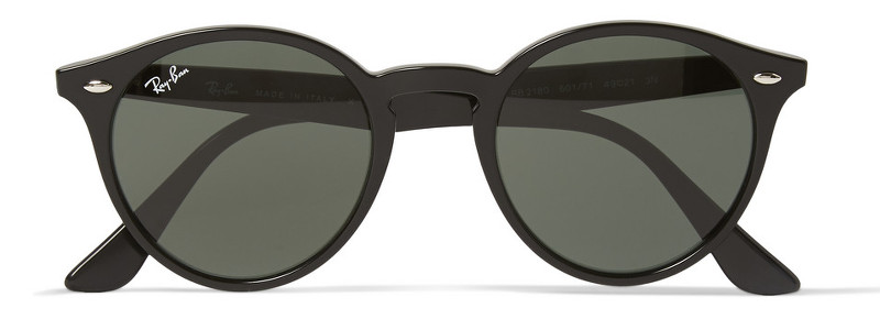 93ea65157f Cult eyewear brand Ray-Ban offer a stylish round-frame option with these  black acetate sunglasses. The slightly winged temples cast a nod to  mid-century ...