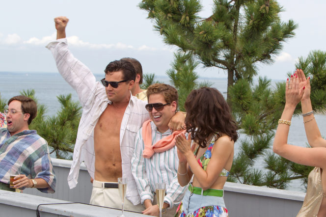 Leo Dicaprio Wolf of Wall Street party