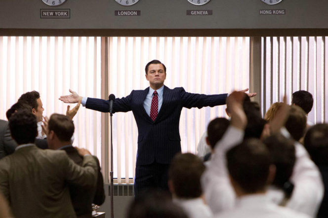 Leo Dicaprio speech in stock market office in Wolf of Wall Street