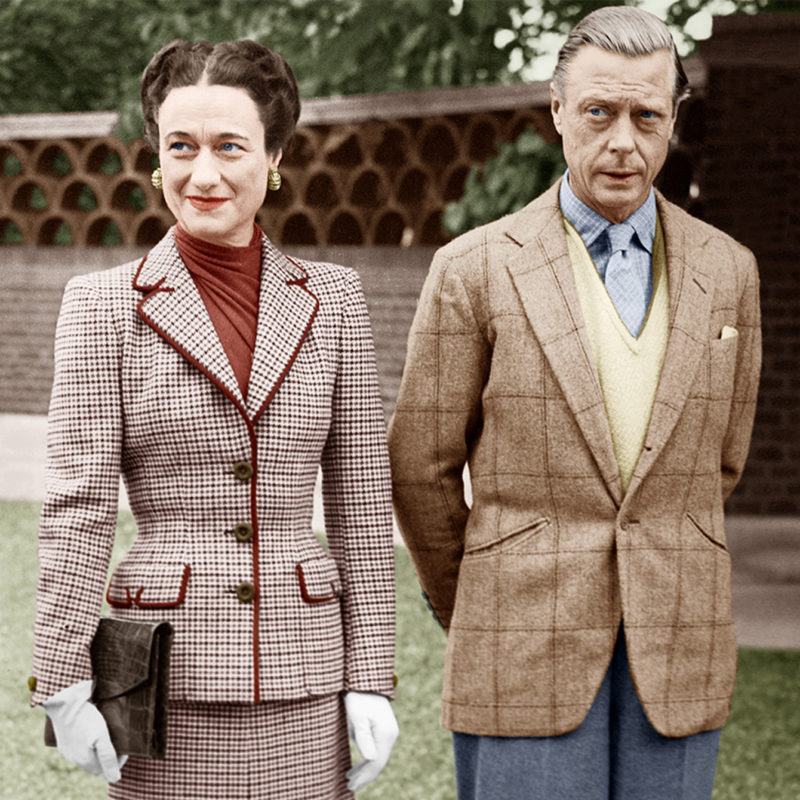 Duke of Windsor and Wallace Simpson in tweed style