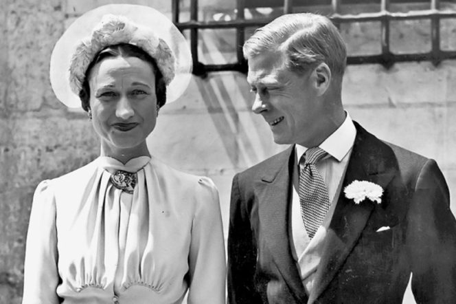 Duke of Windsor and Wallace Simpson wearing Hawes and Curtis shirt on his wedding day