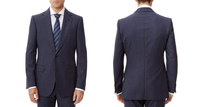 Gieves & Hawkes handmade lightweight wool suit