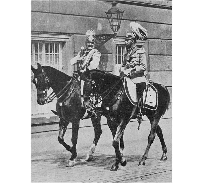 King George V of Great Britain and Kaiser Wilhelm II of Germany,1913
