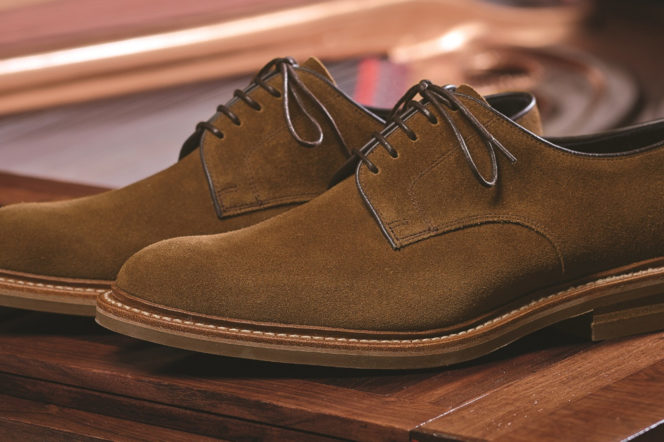 Loake brown suede shoes