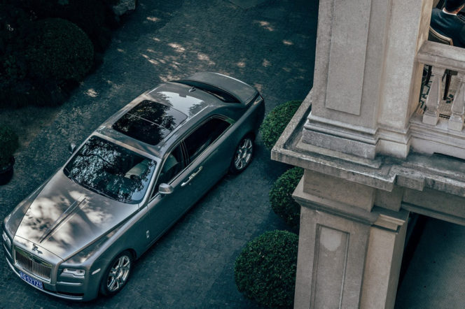 Rolls-Royce ghost photograph from above