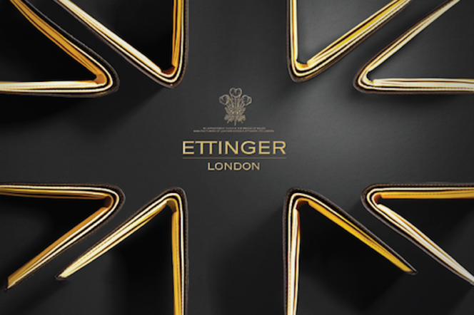 ettinger ad campaign union jack wallets in black and yellow