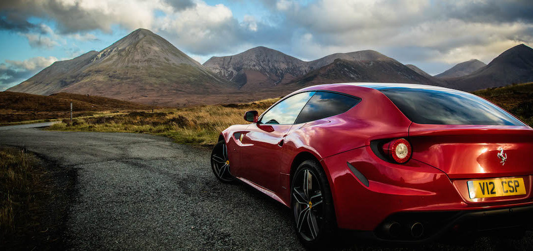The Isle of Skye and a Ferrari – road trips don't get better than this