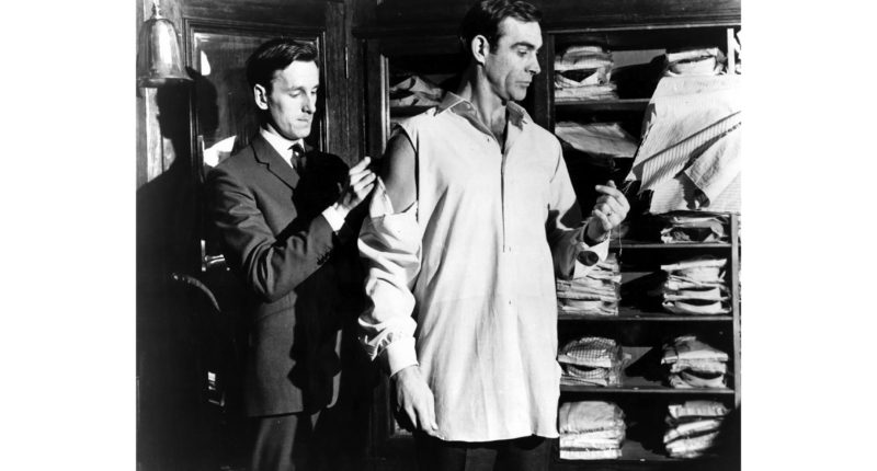 Sean Connery has a Turnbull and Asser shirt fitting by Mr Fish 1962