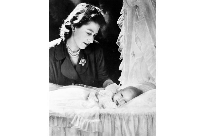 1948 - Princess Elizabeth with an infant Charles (Associated Press)