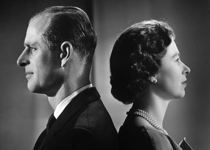 1958 - The Queen and Prince Philip pose for a portrait in Buckingham Palace (Getty Images)