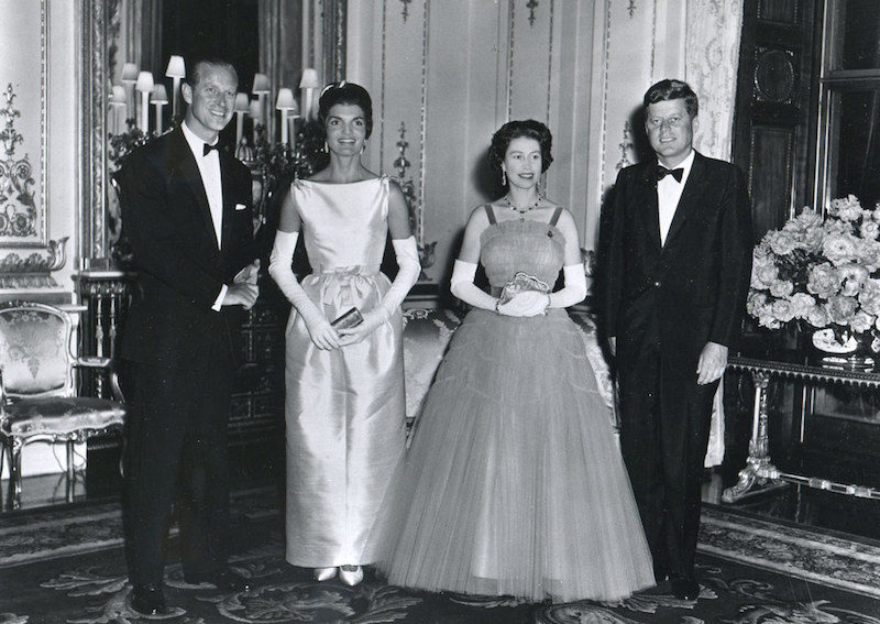 1961. With the Kennedys at Buckingham Palace (Getty Images)