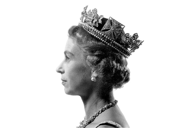1966 - John Hedgecoe's iconic profile shot of the queenn has been reproduced some 200 billion times. (John Hedgecoe)