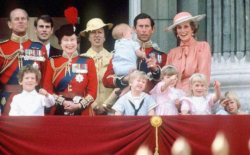 1985 - The royal family on the balcony of Buckingham Palace. (Getty Images)