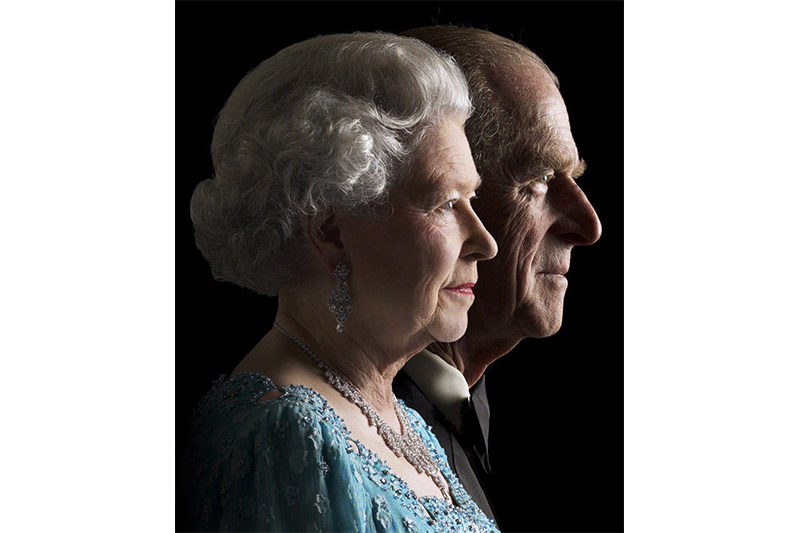 The Queen and The Duke of Edinburgh, 2001. (Getty Images)