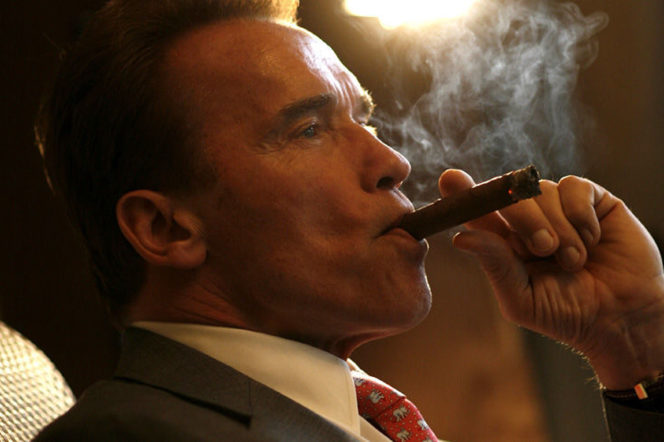 Arnold smoking cigar