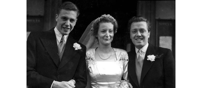 David and Jane Atenoborough on their wedding day (accomapnied by Richard) (EMPICS)