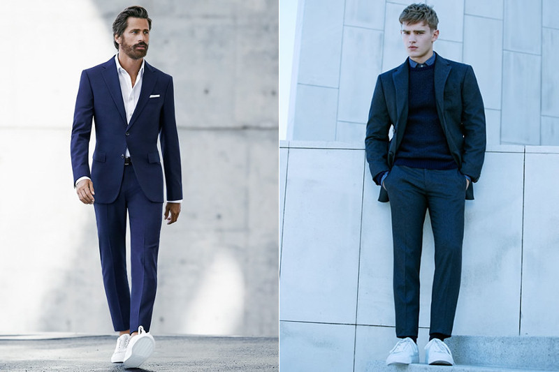 Suits with trainers mango man 2014 - the gentlemans journal