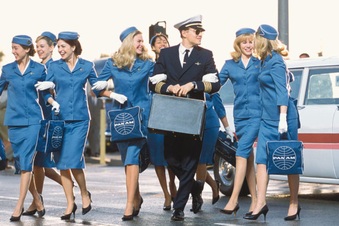 Leonardo DiCaprio as PanAm pilot in Catch Me If You Can