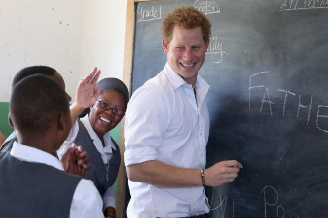 Prince Harry at the Kananelo Centre for the Deaf
