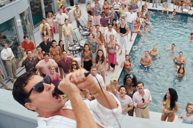 Wolf of Wall Street Leo DiCaprio party