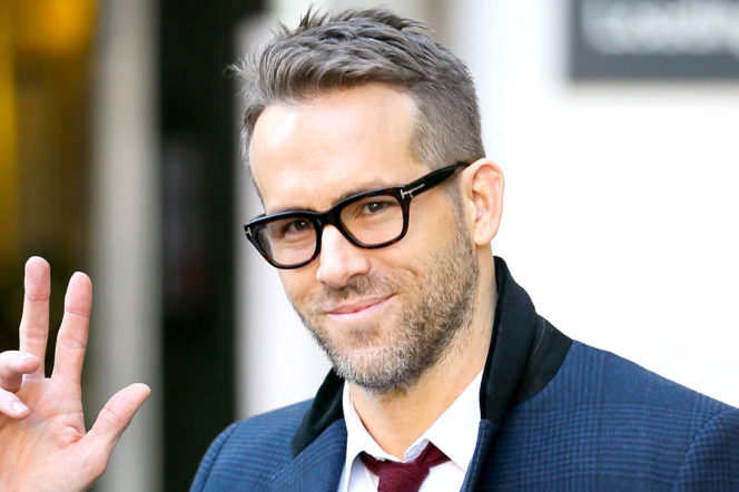 Ryan Reynolds wearing Tom Ford glasses