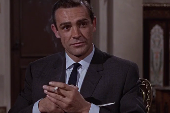 Sean Connery in 007 From Russia With Love wearing a suit