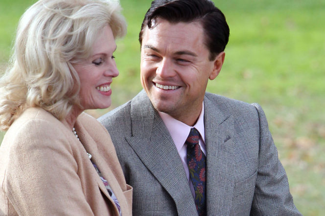 Wolf of Wall Street with Leo Dicaprio and Joanna Lumley