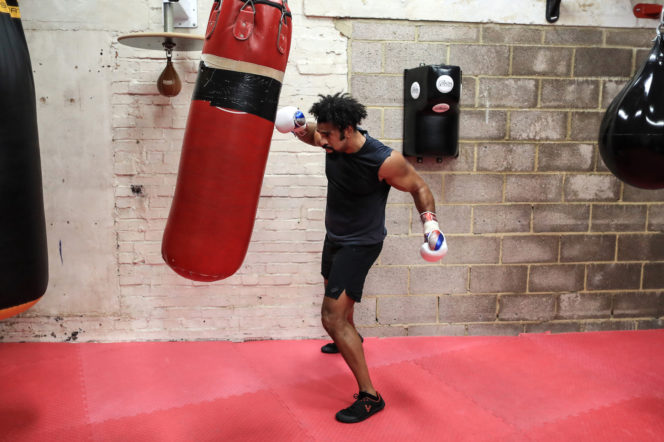 """This isn't an easy workout"": Training with David Haye"