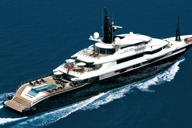 Alpha Nero super yacht by yachtmasters charter