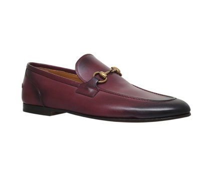Gucci Jordaan horsebit leather loafers in wine red