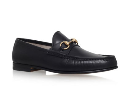gucci horsebit loafers 1953 in black leather