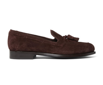 Paul Smith brown suede leather tassel loafers