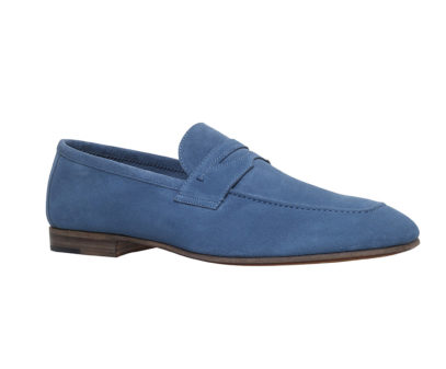 Stemar Suede Penny Loafers in blue