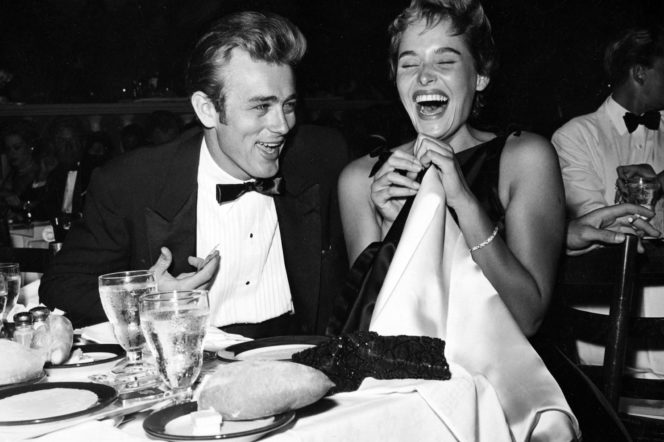 James Dean and Ursula Andress by Darlene Hammond, 1955