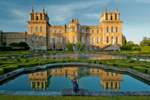 Blenheim Palace in Oxfordshire sunset