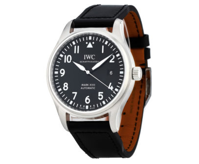 IWC Pilot's Mark XVIII 40mm Stainless Steel And Leather Watch