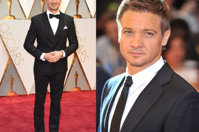Jeremy Renner Oscars 2017 and suit