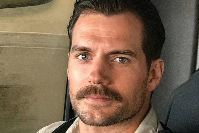 henry cavill with a moustache