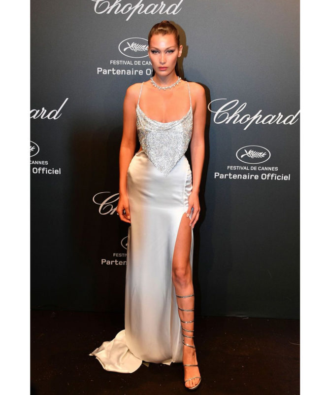 Chopard Space Party - May 19 2017 Bella Hadid in Roberto Cavalli Couture