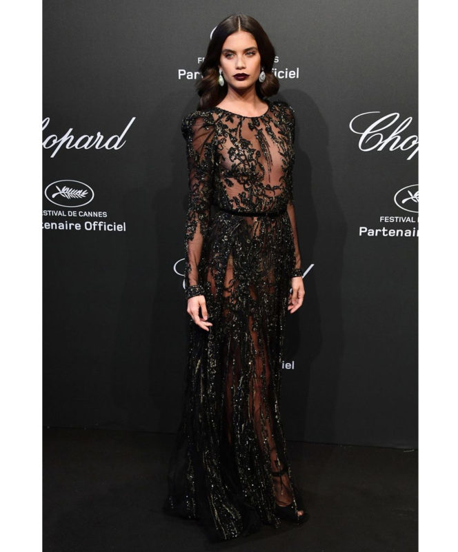Chopard Space Party - May 19 2017 Sara Sampaio wore an Elie Saab couture gown and Chopard jewellery