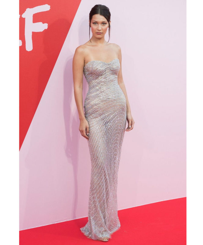 Fashion For Relief - May 21 2017 Bella Hadid wore a Roberto Cavalli couture gown and Repossi jewellery