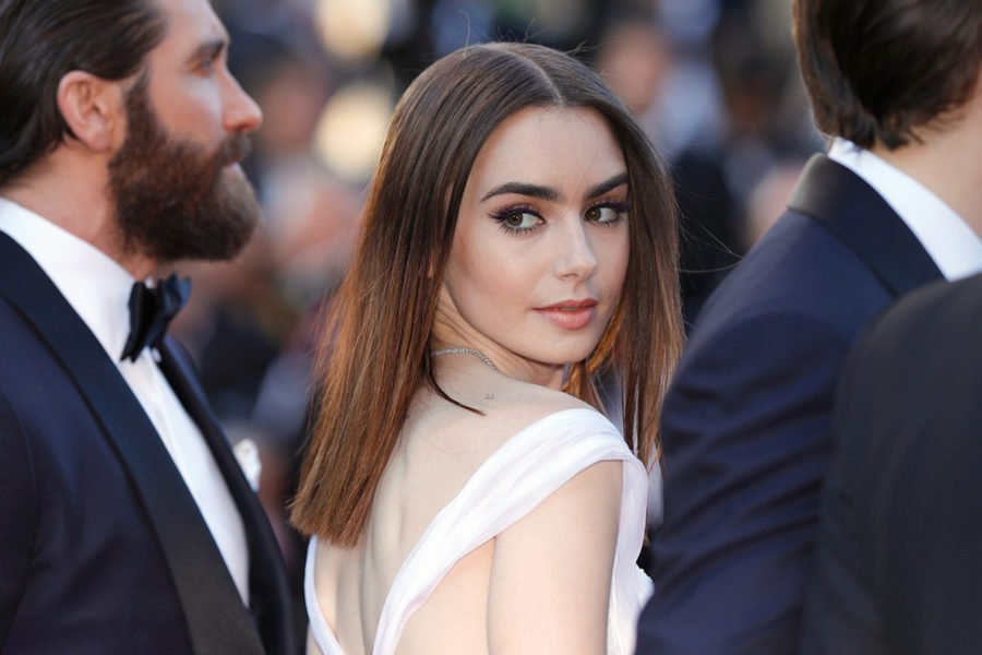 Lily Collins Cannes 2017 by AFP